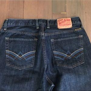 Lucky Brand Men's jean sunset boot leg. 34x30.